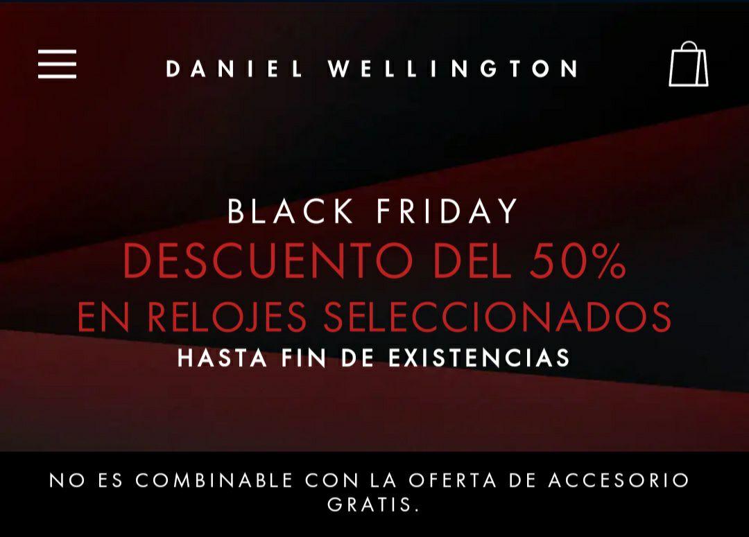 Descuento del 50% en selección de Relojes Daniel Wellington