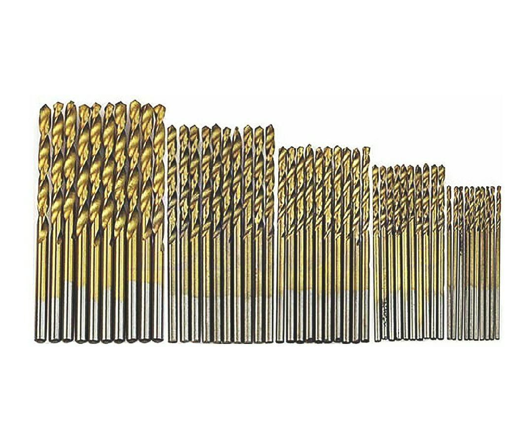 Juego de 50 brocas con revestimiento de titanio