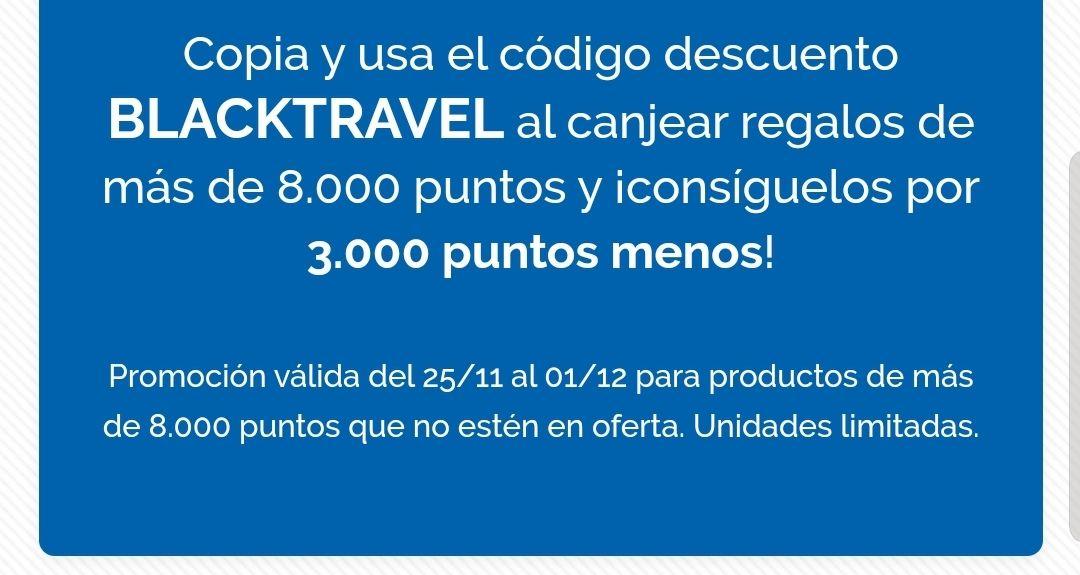 Descuento Travel 3000 puntos