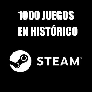 Steam: +1000 juegos en histórico