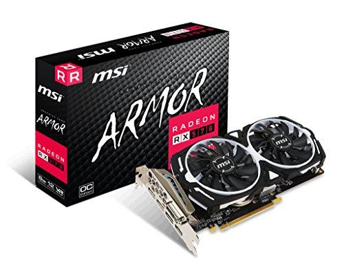 Tarjeta gráfica MSI RX 570 Armor 8G OC AMD 8 GB PCI Express x16