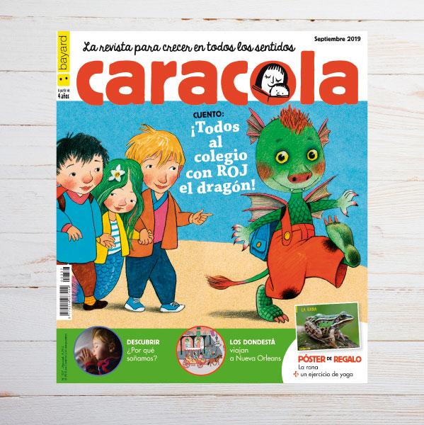 10 Revistas Caracola niños ( menos móvil y más libros)