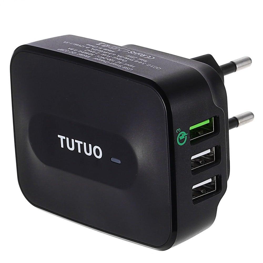 Cargador TUTUO con 3 puertos USB - 1Quick Charge