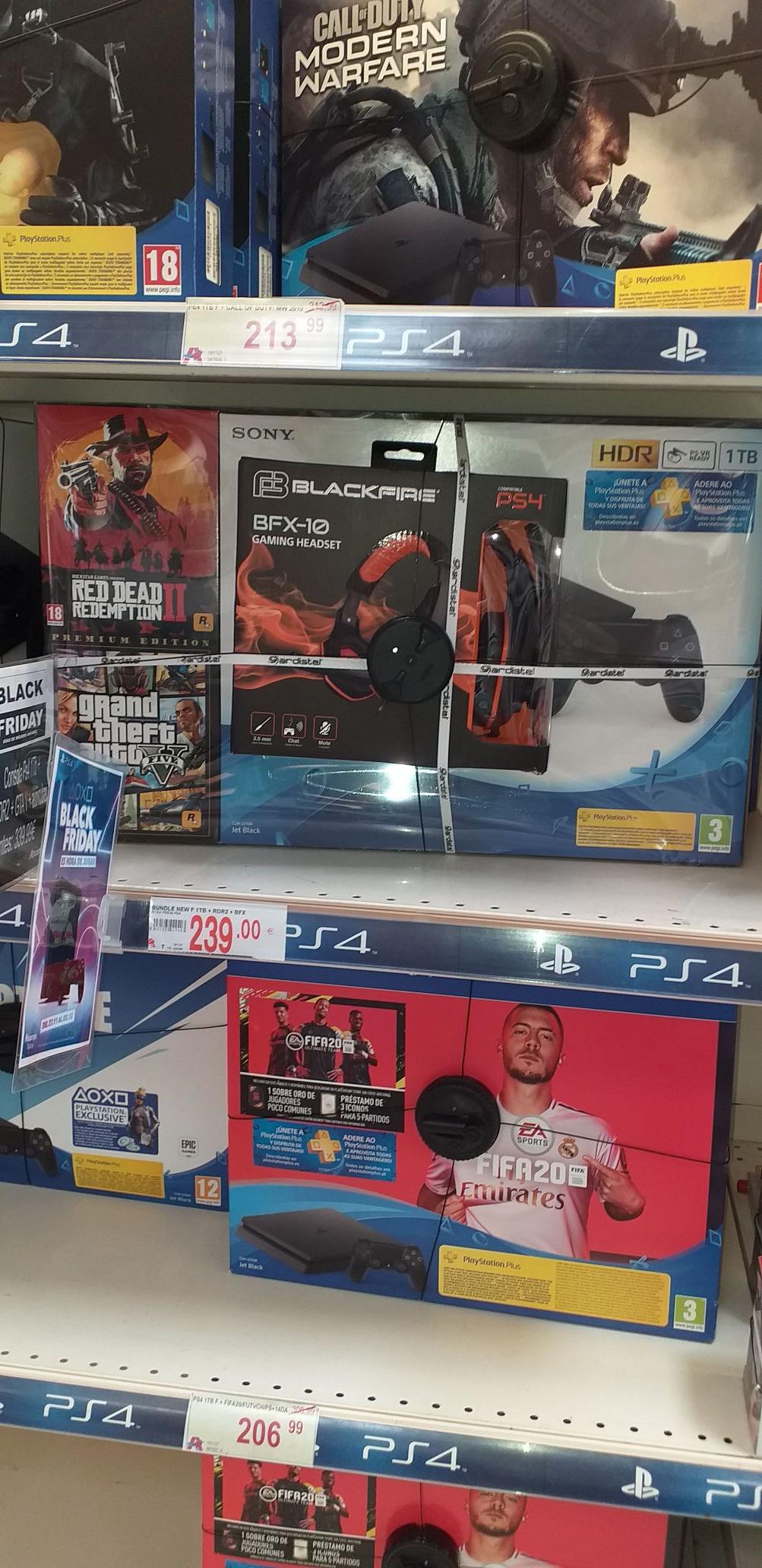 PLAYSTATION PS4 1T más dos juegos + auriculares gaming