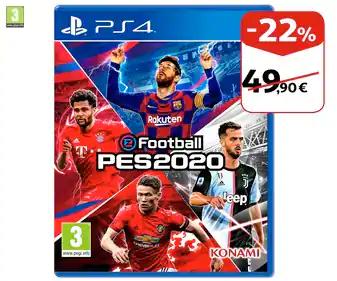 Videojuego eFootball PES 2020 para Playstation 4