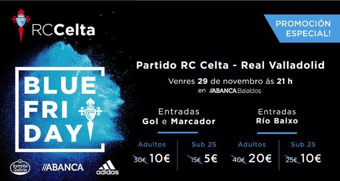 Blue friday para el RC Celta - Valladolid