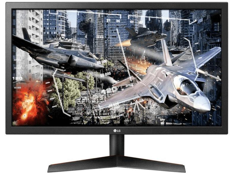 """Monitor gaming - LG 24GL600F-B, 23.6"""" Full HD, 16:9, 1 ms, 144 Hz, FreeSync, Negro"""