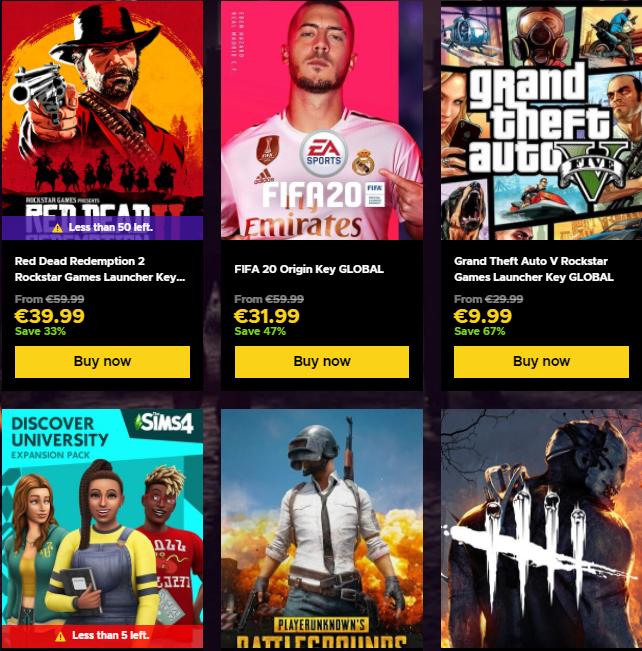 Ofertas Black Friday en juegos en Eneba