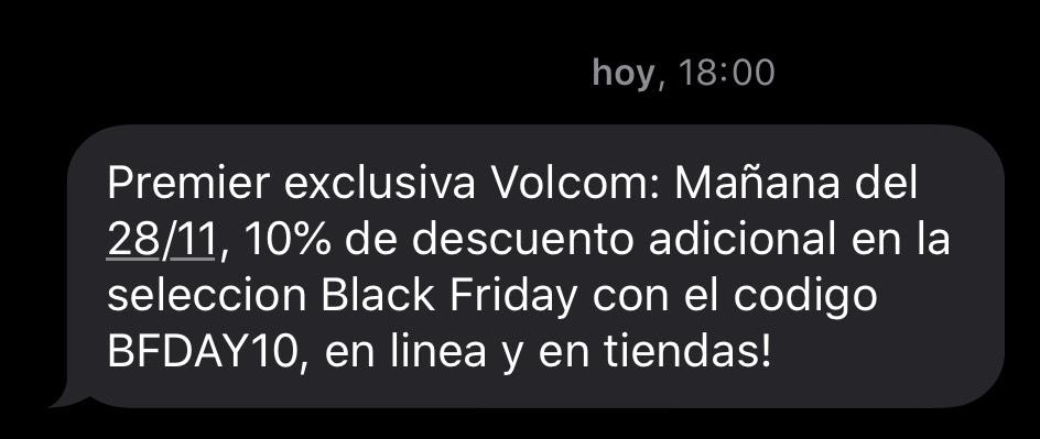 10% de descuento extra en el Black Friday de Volcom