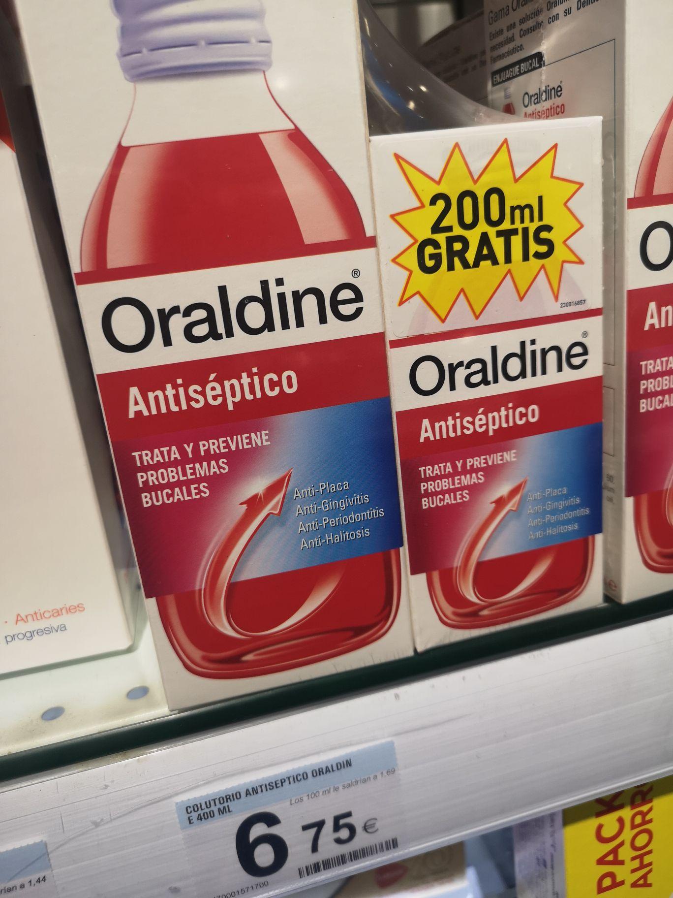 Compra Oraldine de 400 y de regalo otro de 200ml en Carrefour Hospitalet cc granvia 2