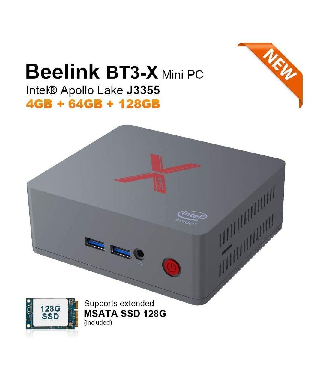 Mini Ordenador Beelink BT3-X 64G eMMC + 128GB MSATA SSD