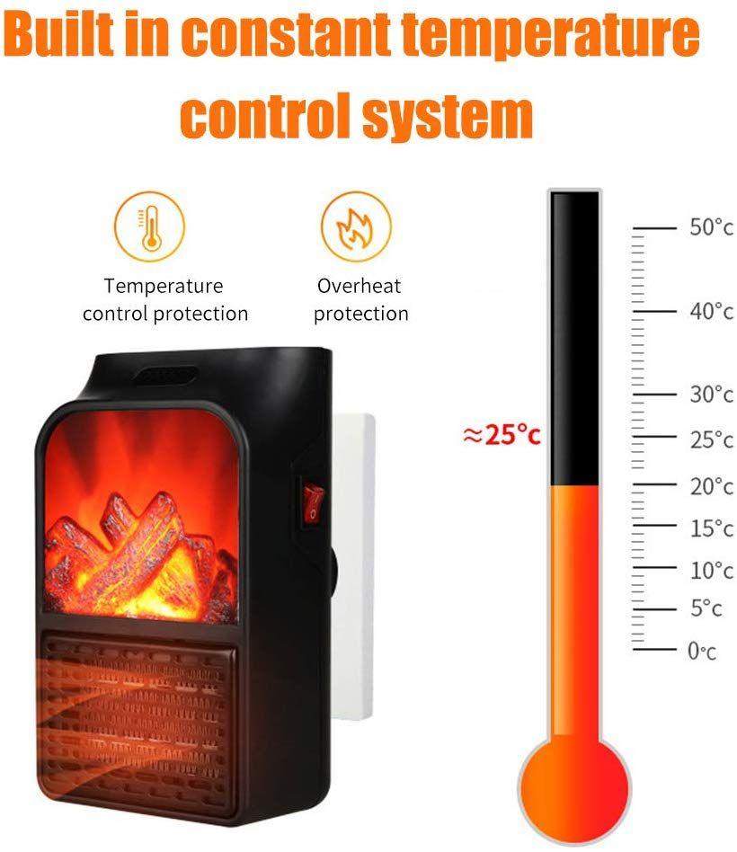 KKmoon Calefactor Electrico Portatil, 900W Mini Termoventiladores Calentador de Cerámica para Hogar, Oficina y Escritorio