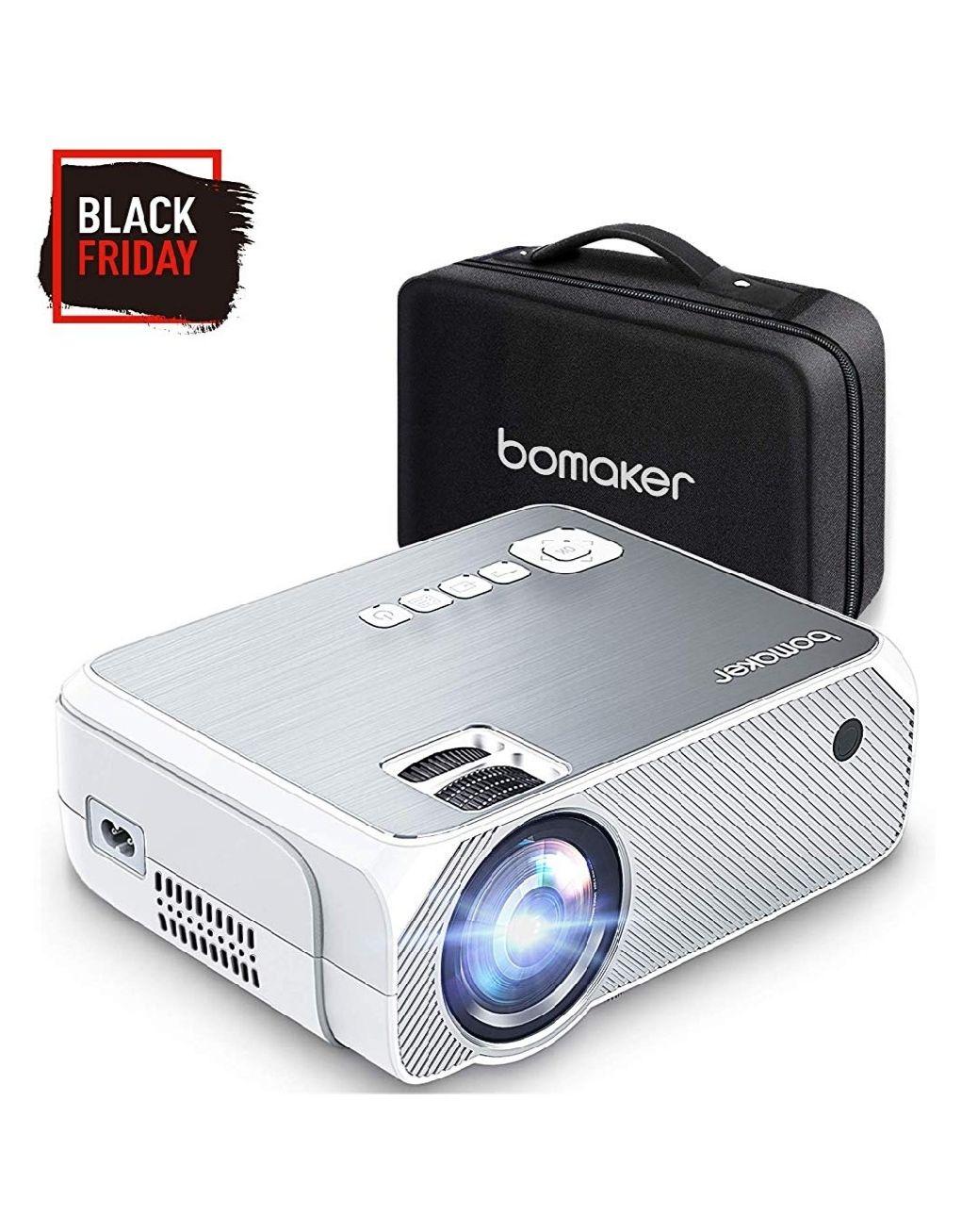 Proyector BOMAKER 4000 Lúmenes, Soporte Full HD 1080p, Pantalla de 250 Pulgadas