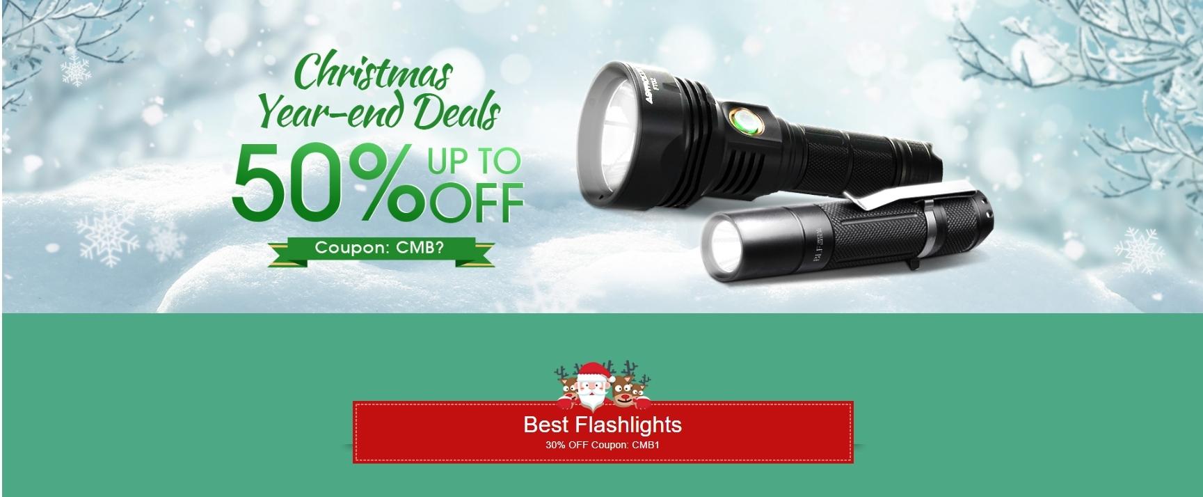 Hasta 50% de descuento para la promoción de Navidad de linternas