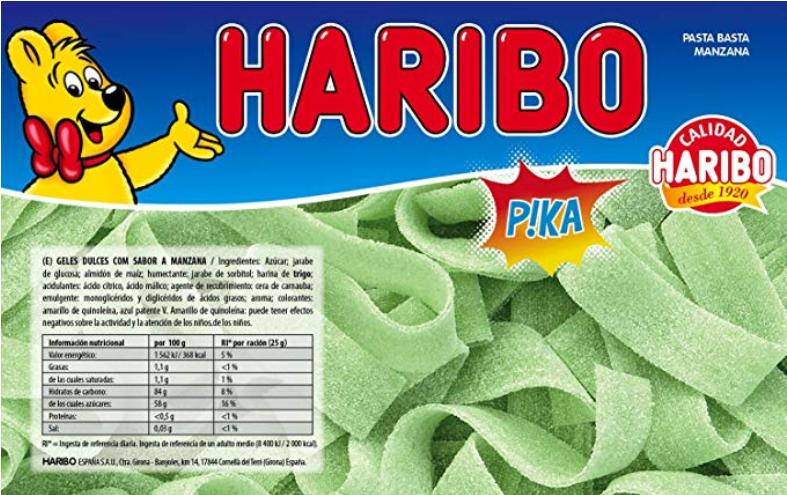 Haribo - Piezas en forma de Lengua Sabor a Manzana - 1.72 kg