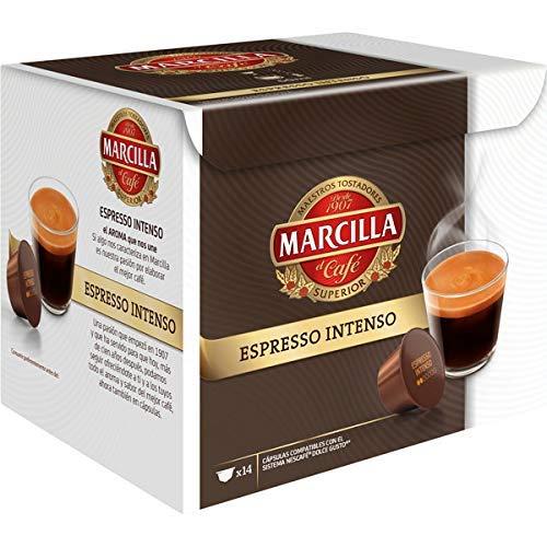 Espresso Intenso Cápsulas de café - 3 paquetes x 14 cápsulas - Total: 42 cápsulas