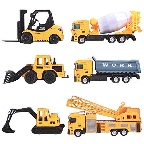 deAO Camiones de Construcción (1:64) Pack de 6