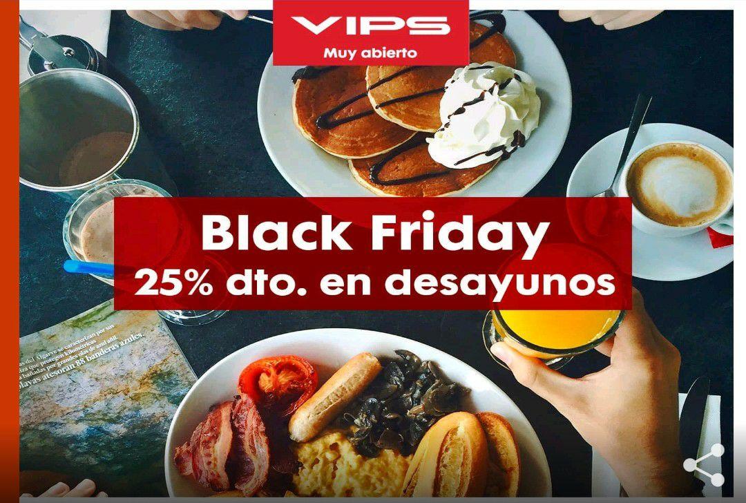 Descuento del 25% en VIPS hasta las 13:00 de lunes a viernes (consumo superior a 10€)