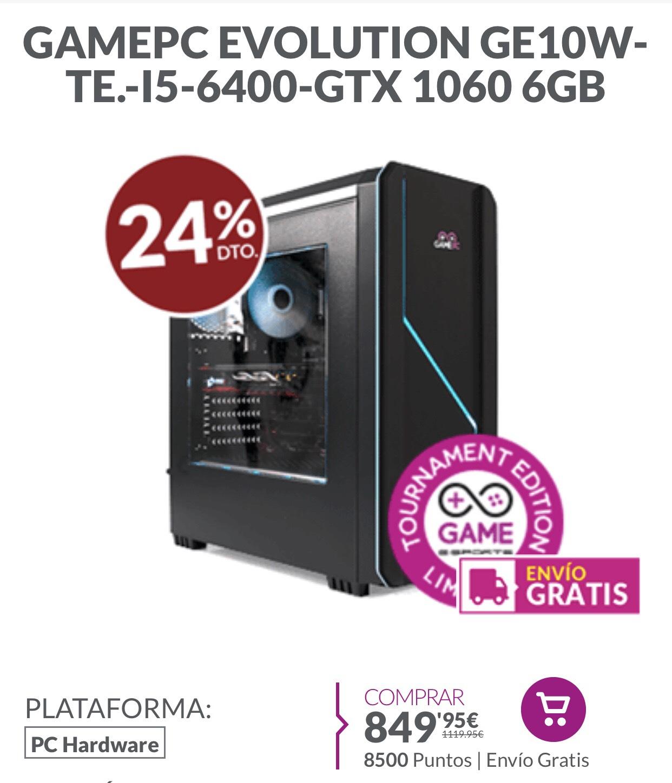 PC gaming i5 6400, gtx1060 6gb 16ram