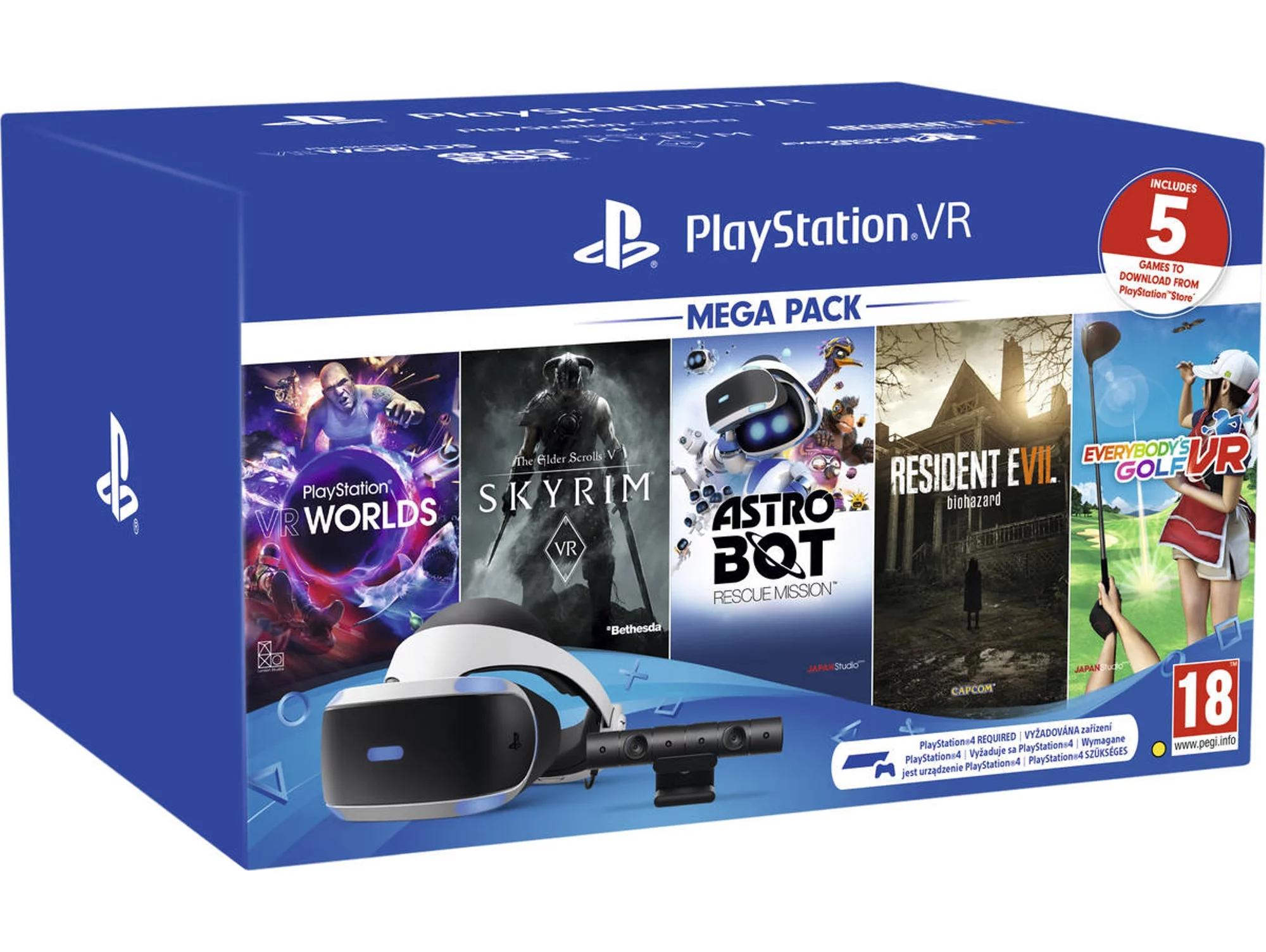2 packs Gafas de Realidad Virtual PS VR + 5 Juegos 2a unidad 50%