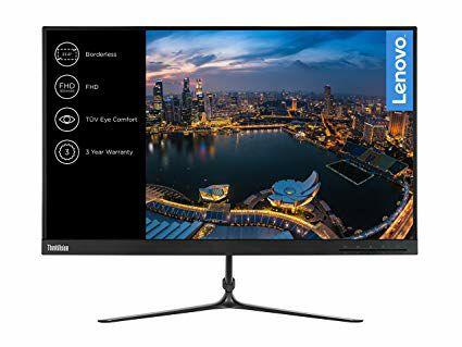 "Monitor lenovo de 23.8"" (Pantalla FullHD/IPS, 1920 x 1080 pixeles, tiempo de respuesta de 4 ms, VGA, HDMI, 1000:1)"