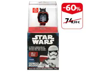STAR WARS - Reloj inteligente infantil Trooper Black con cámara