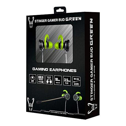 Woxter Stinger Gamer Bud Green - Auriculares gaming in-ear