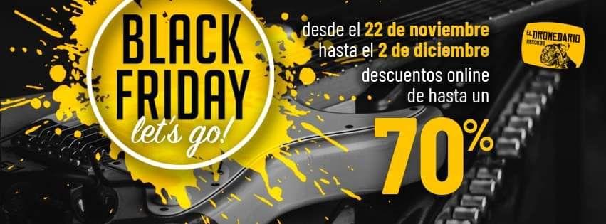 Black Friday en El Dromedario Records (hasta 70% de descuento)