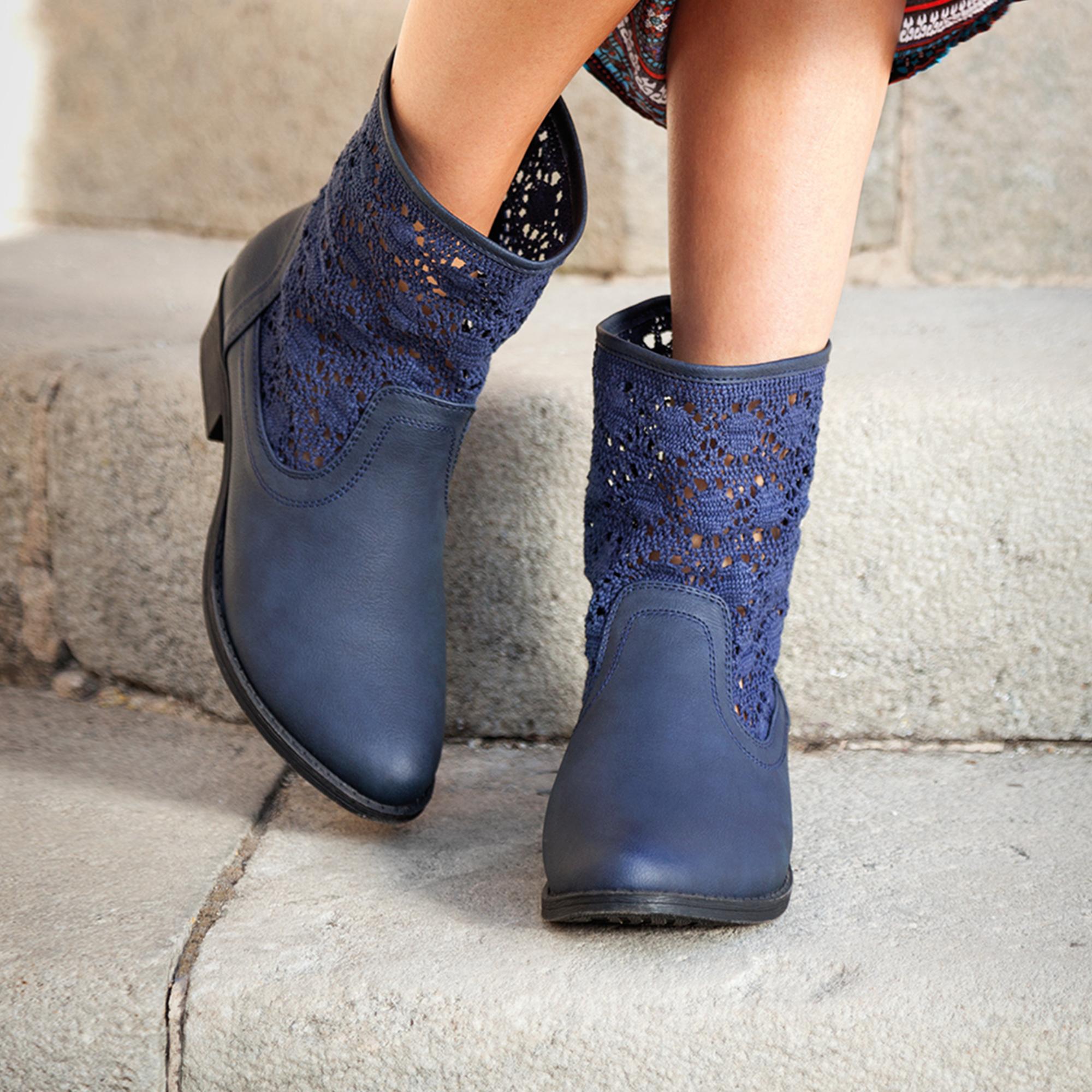 Botas caña de encaje de 18cm mujer