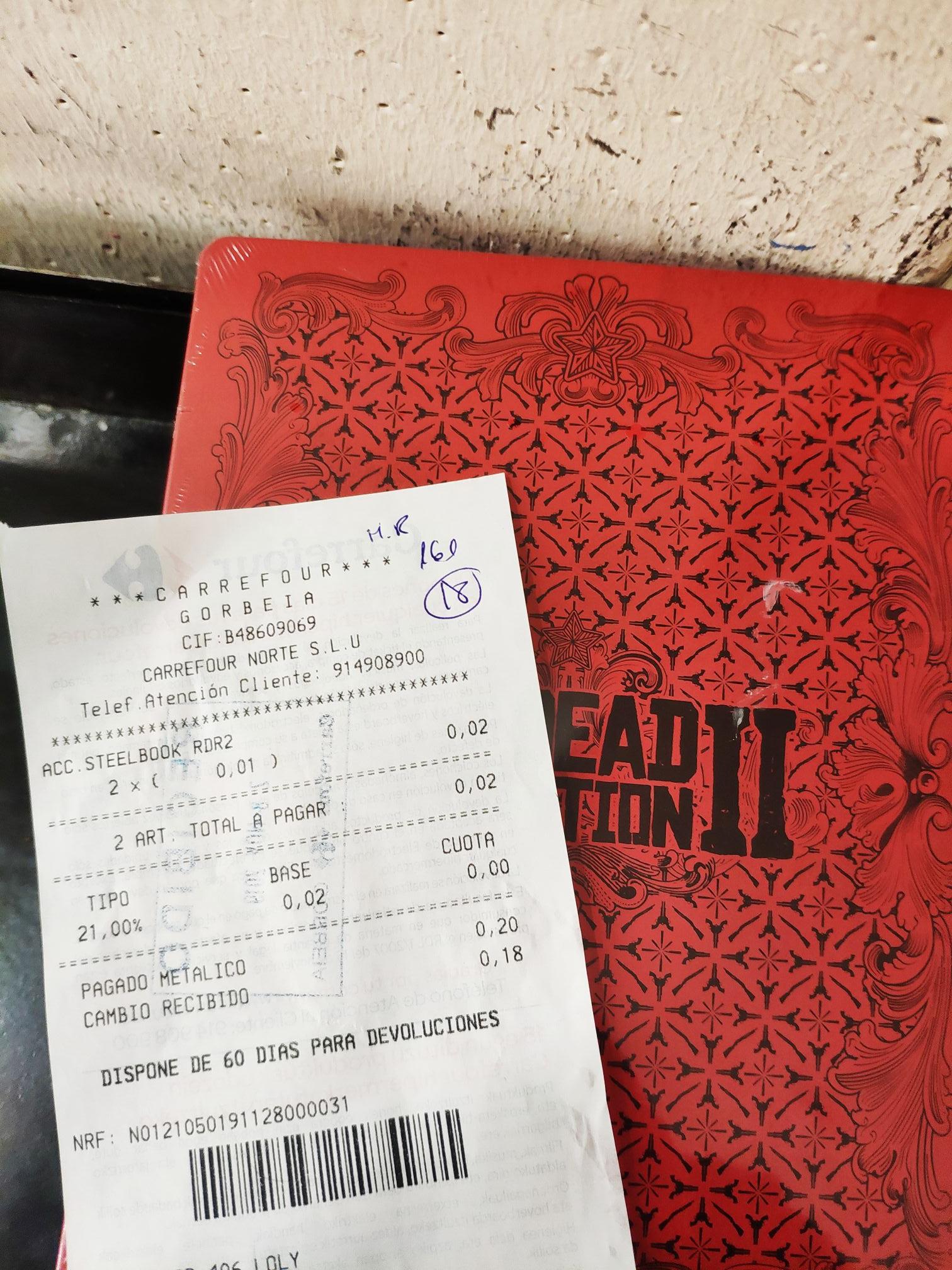 SteelBook Red Dead Redemption 1 céntimo Carrefour Vitoria