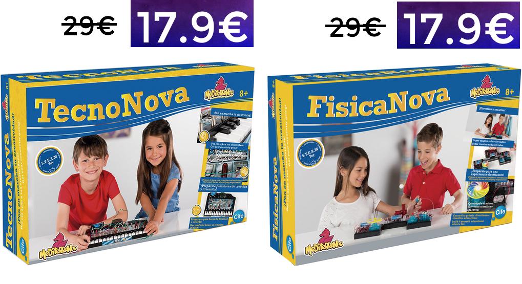 Juegos educativos Tecnova y Fisicanova 17.9€