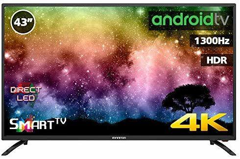 Television LED 43 Pulgadas INFINITON Smart TV-Android TV (TDT2, HDMI, VGA, USB)