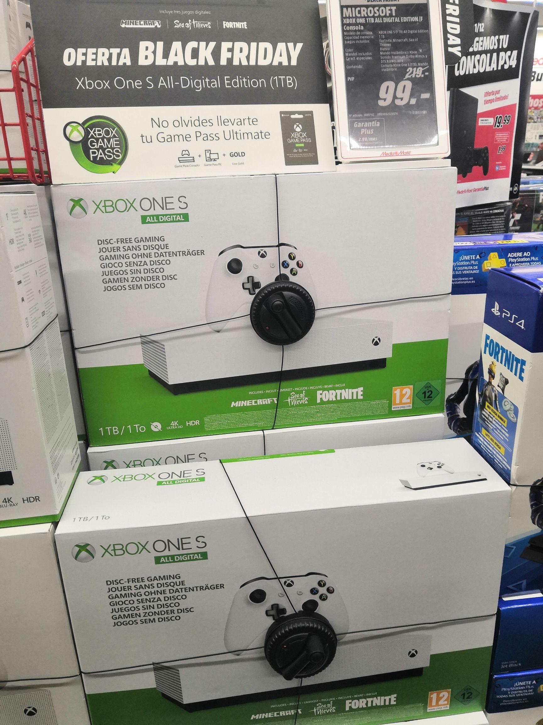 Xbox one s digital 1tb (En mediamark rio shopping)