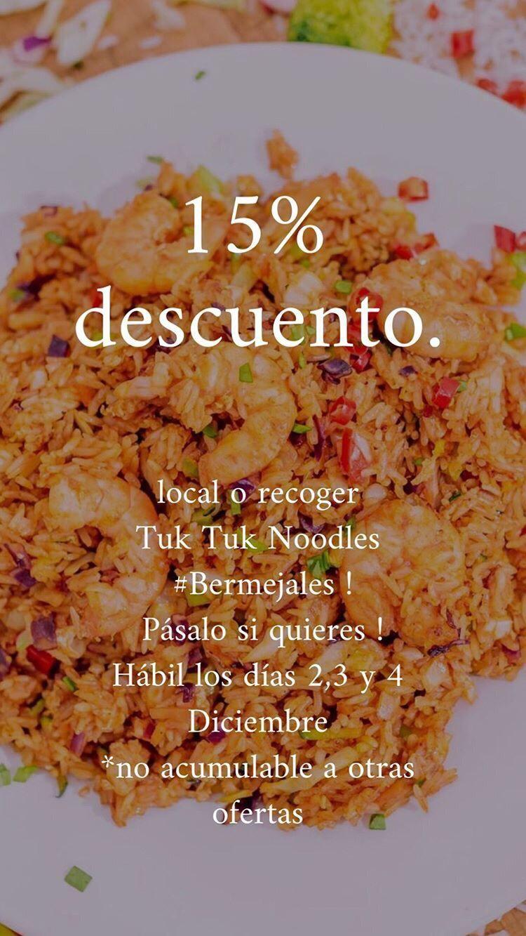 15% descuento Tuk Tuk Noodles Bermejales