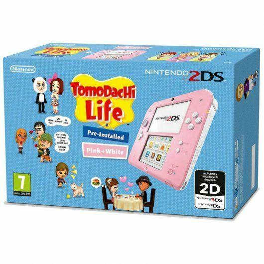 Nintendo 2DS Rosa/Blanca + Tomodachi Life (preinstalado)