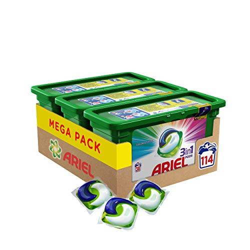 Ariel 3en1 Pods Detergente En Cápsulas, Colour & Style, 114 Lavados