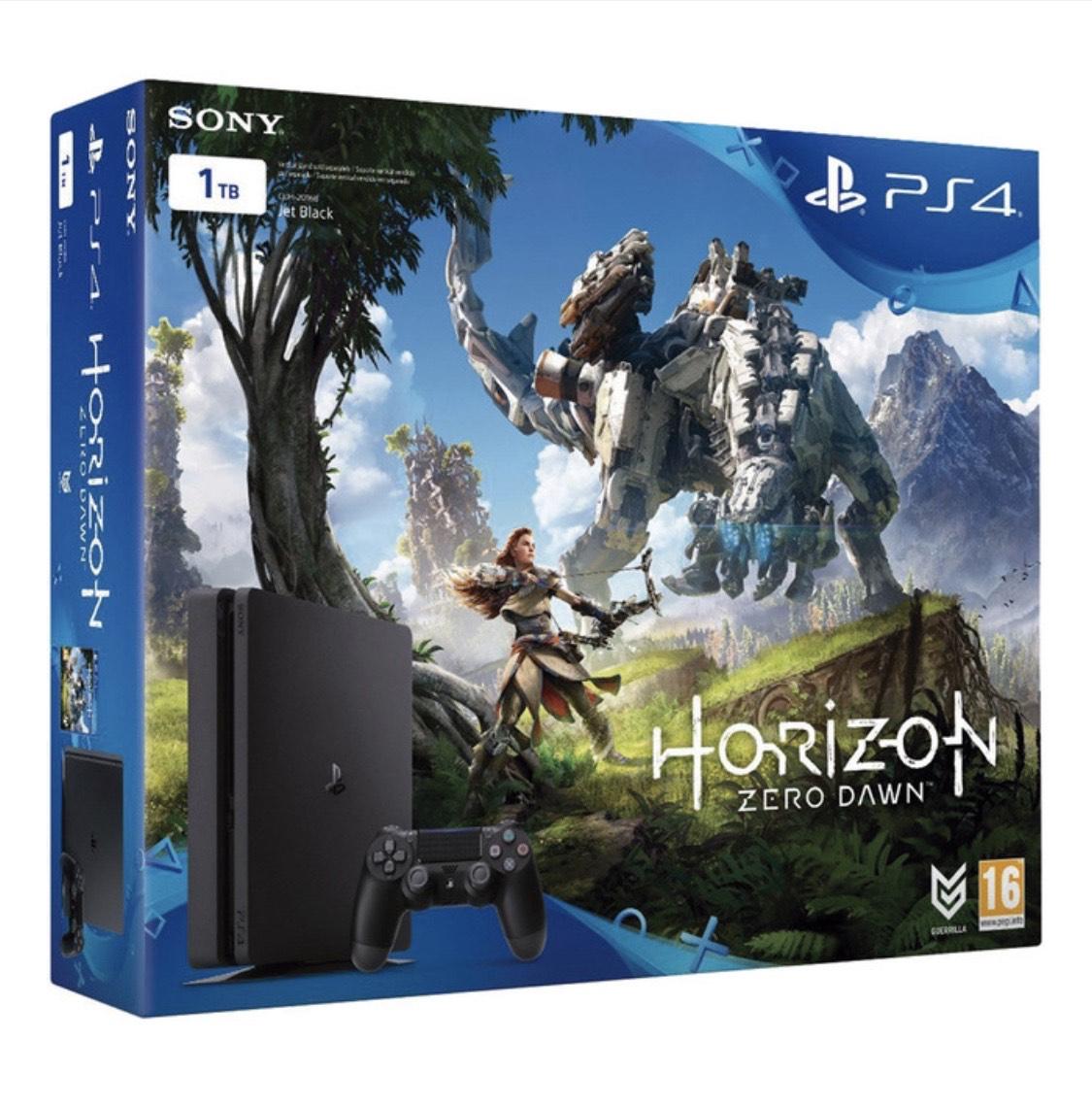 Consola PS4 Slim (Chasis D) de 1 TB + Horizon Zero Dawn
