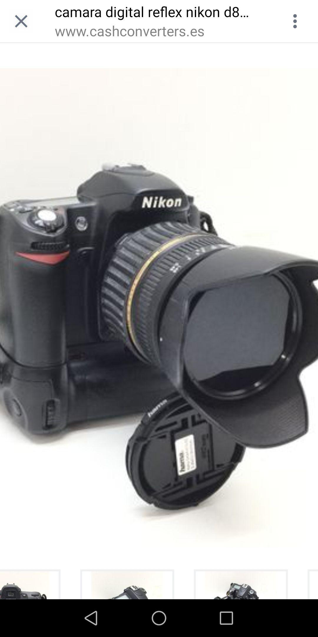 Camara Digital Reflex Nikon D80+Af-S Dx 18-135mm 1:3.5-5.6g Ed
