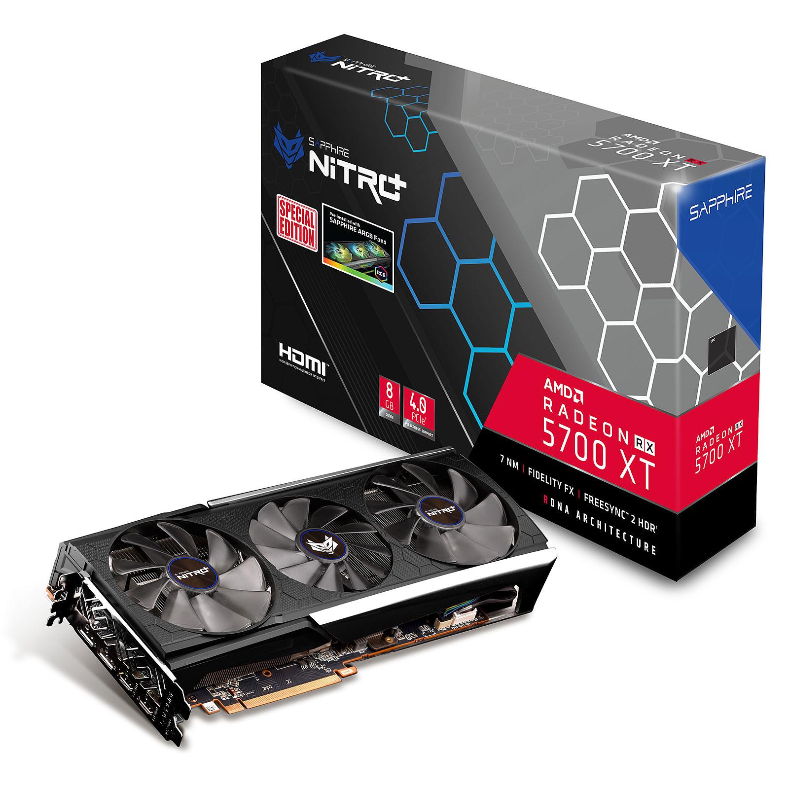 Sapphire NITRO+ Radeon RX 5700 XT 8G SE con ventiladores RGB