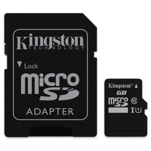 Kingston 128Gb con Adaptador SD (se puede comprar 1)