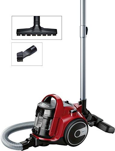 Bosch GS05 Cleann'n BGC05AAA2 - Aspirador sin bolsa, 700 W, 1.5 litros, color Rojo y negro
