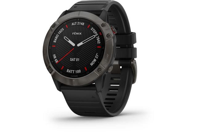 Fenix 6X Sapphire DLC Multisport GPS Smartwatch, black/slate grey