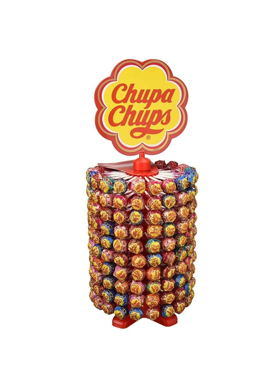 Chupa Chups Caramelo con Palo de Sabores Variados - Rueda de 200 unidades de 12 gr/ud