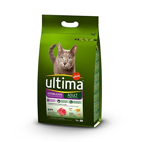 Ultima Pienso para Gatos Esterilizados Adulto con Buey 3kg