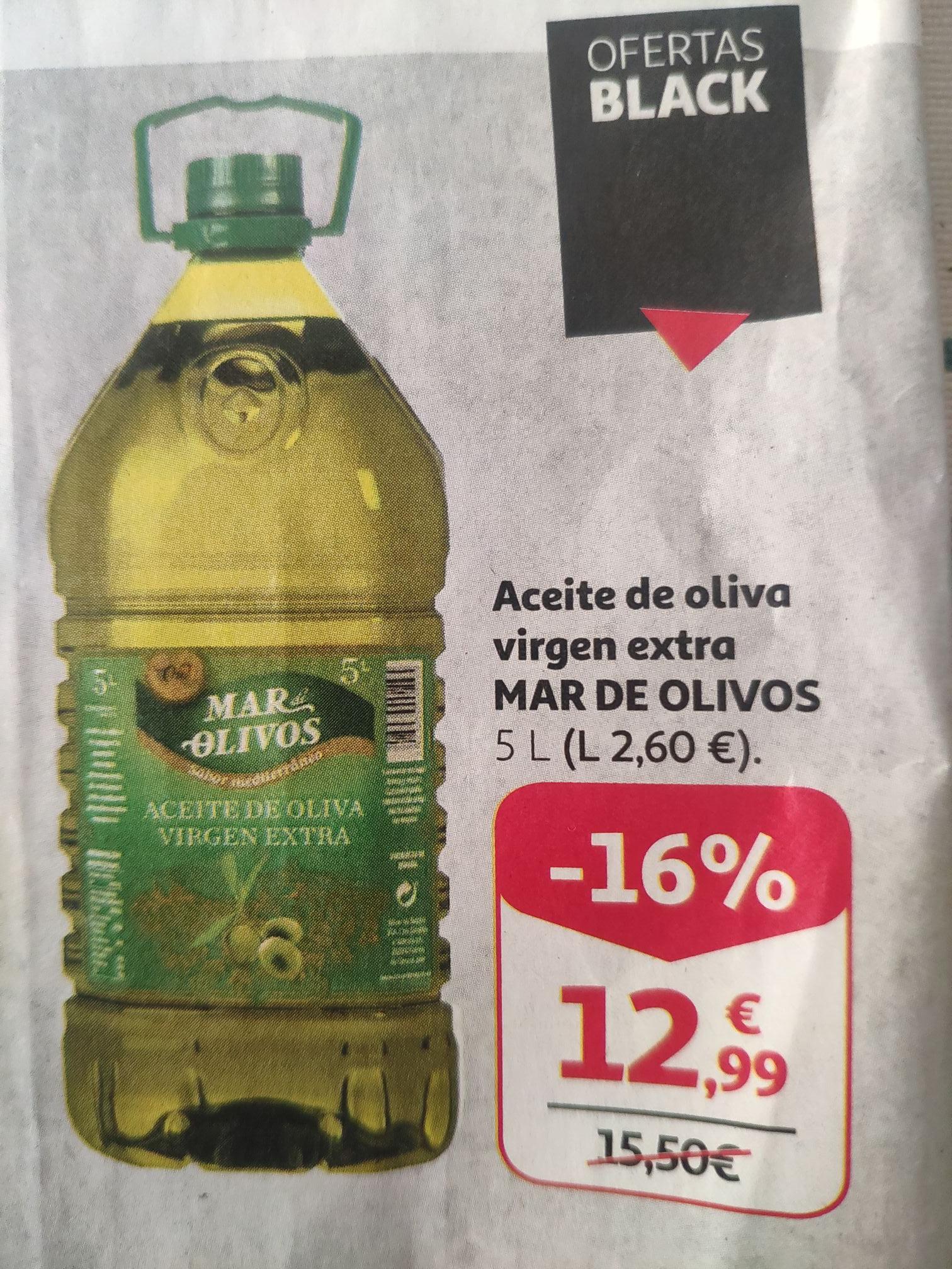 Aceite de oliva virgen extra MAR DE OLIVOS garrafa de 5 l.