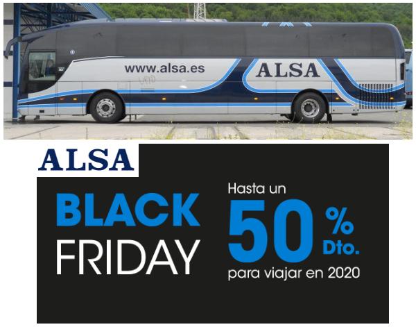 Viajes desde 5€ con Alsa + Oferta Black Friday