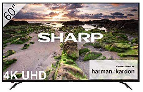 """Sharp LC-60UI9362E - Smart TV Slim UHD de 60"""" (resolución 3840 x 2160, HDR+, Sonido Harman/kardon, 3X HDMI, 3X USB, Active Motion 800)"""