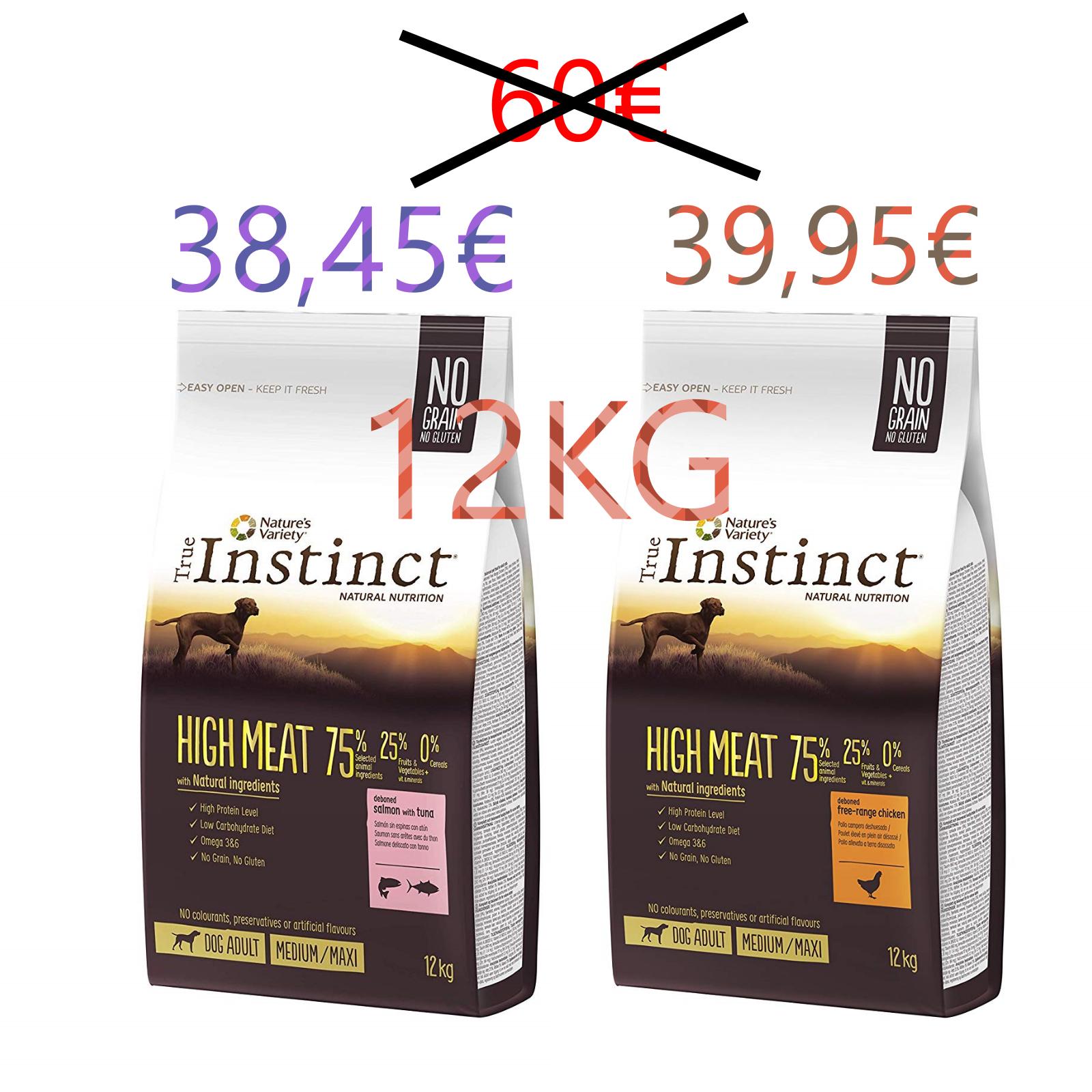 12KG True Instinct a precio de DERRIBO! [SOLO HOY]