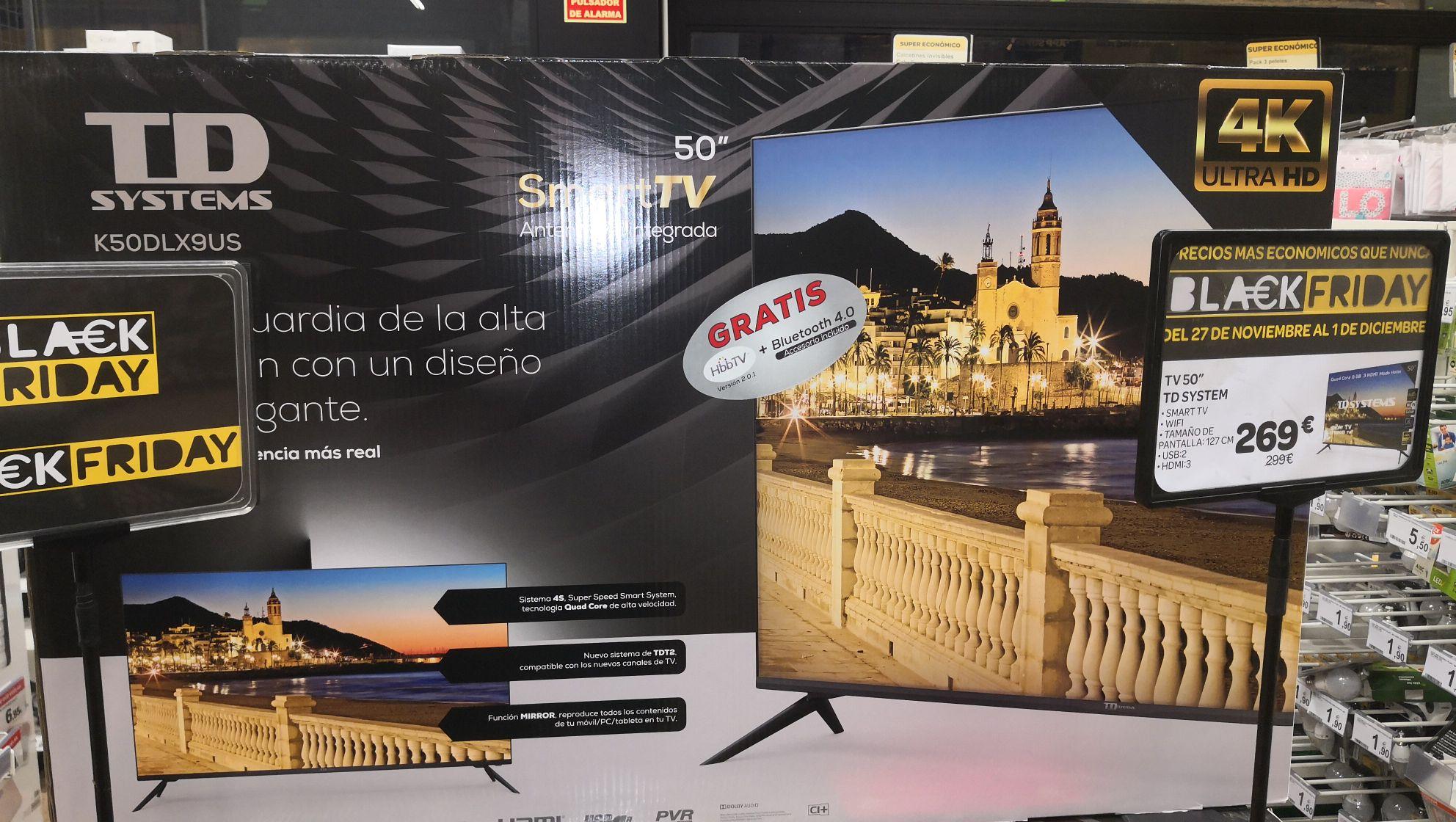 TD SYSTEM smart tv 50pulgadas y 4k