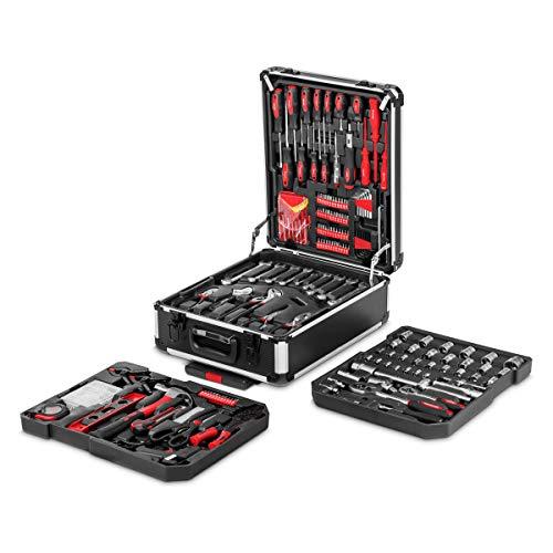 Greencut TOOLS Set de herramientas (819 piezas), maletín de aluminio con ruedas, con asa telescópica, acero cromo vanadio